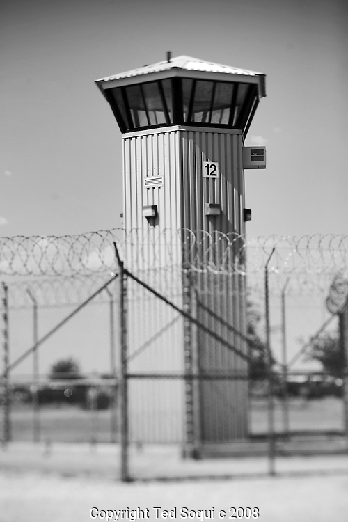 Guard tower..California State Prison, Los Angeles County.