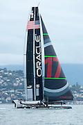 Oracle Team USA test their AC72 in San Francisco bay. 12/10/2012