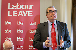 © Licensed to London News Pictures. 20/01/2016. London, UK. Roger Godsiff MP helps to launch the Labour Party's 'Labour Leave' EU referendum campaign.  A referendum on the United Kingdom's membership of the European Union may be held as soon as this summer.  Photo credit: Peter Macdiarmid/LNP