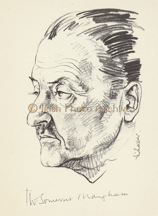 William Somerset Maugham (1874-1965),  English novelist and short story writer. Maugham in the 1920s.