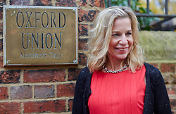 Former apprentice contestant Katie Hopkins speaks at the Oxford Union. Oxford union, Oxford, United Kingdom. Wednesday, 27th November 2013. Picture by i-Images