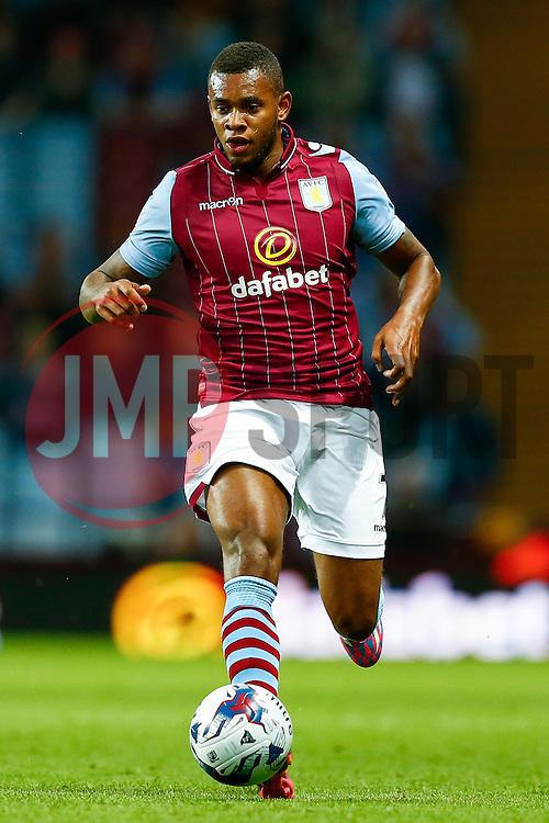 Ciaran Clark of Aston Villa in action - Photo mandatory by-line: Rogan Thomson/JMP - 07966 386802 - 27/08/2014 - SPORT - FOOTBALL - Villa Park, Birmingham - Aston Villa v Leyton Orient - Capital One Cup Round 2.