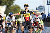 Victoire Debusschere Jens - Lotto Soudal - 12.03.2015 - Etape 2 - Tirreno Adriatico<br />Photo : Sirotti / Icon Sport