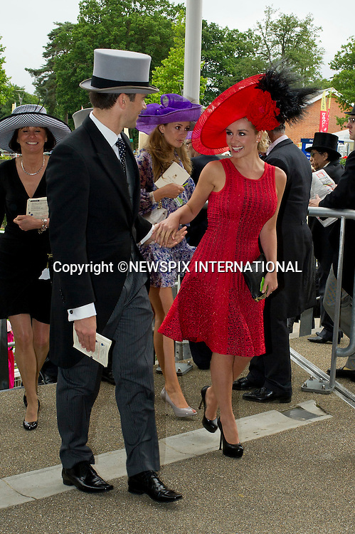 """ROYAL ASCOT 2011 DAY 2..Katherine Jenkins and Gethin Jones.  Royal Ascot_14/06/2011..Mandatory Photo Credit: ©Dias/Newspix International..**ALL FEES PAYABLE TO: """"NEWSPIX INTERNATIONAL""""**..PHOTO CREDIT MANDATORY!!: NEWSPIX INTERNATIONAL(Failure to credit will incur a surcharge of 100% of reproduction fees)..IMMEDIATE CONFIRMATION OF USAGE REQUIRED:.Newspix International, 31 Chinnery Hill, Bishop's Stortford, ENGLAND CM23 3PS.Tel:+441279 324672  ; Fax: +441279656877.Mobile:  0777568 1153.e-mail: info@newspixinternational.co.uk"""