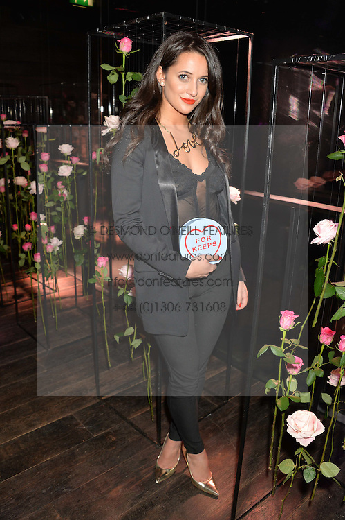 ROXIE NAFOUSI at the Lancôme pre BAFTA party held at The London Edition, 10 Berners Street, London on 14th February 2014.