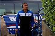 Bury defender Reece Brown (33) arriving for the game during the EFL Sky Bet League 1 match between Southend United and Bury at Roots Hall, Southend, England on 30 April 2017. Photo by Matthew Redman.