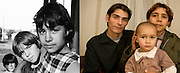 Ramona Cutitaru -right on the picture- in 1995 when she was 10 and in 2009 in Iasi with her husband - who also grew up in an orphanage - and their son Marius. They both work at cleaners and share a room in a derelict flat with other people.