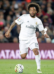 02.04.2016, Camp Nou, Barcelona, ESP, Primera Division, FC Barcelona vs Real Madrid, 31. Runde, im Bild Real Madrid's Marcelo Vieira // during the Spanish Primera Division 31th round match between Athletic Club and Real Madrid at the Camp Nou in Barcelona, Spain on 2016/04/02. EXPA Pictures © 2016, PhotoCredit: EXPA/ Alterphotos/ Acero<br /> <br /> *****ATTENTION - OUT of ESP, SUI*****