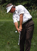 Jun 26, 2006; Gaylord MI; USA; Fred Couples tees off on the 5th hole of the Threetops course at the Treetops Resort in Gaylord Michigan during the 2006 ING Par-3 Shootout.