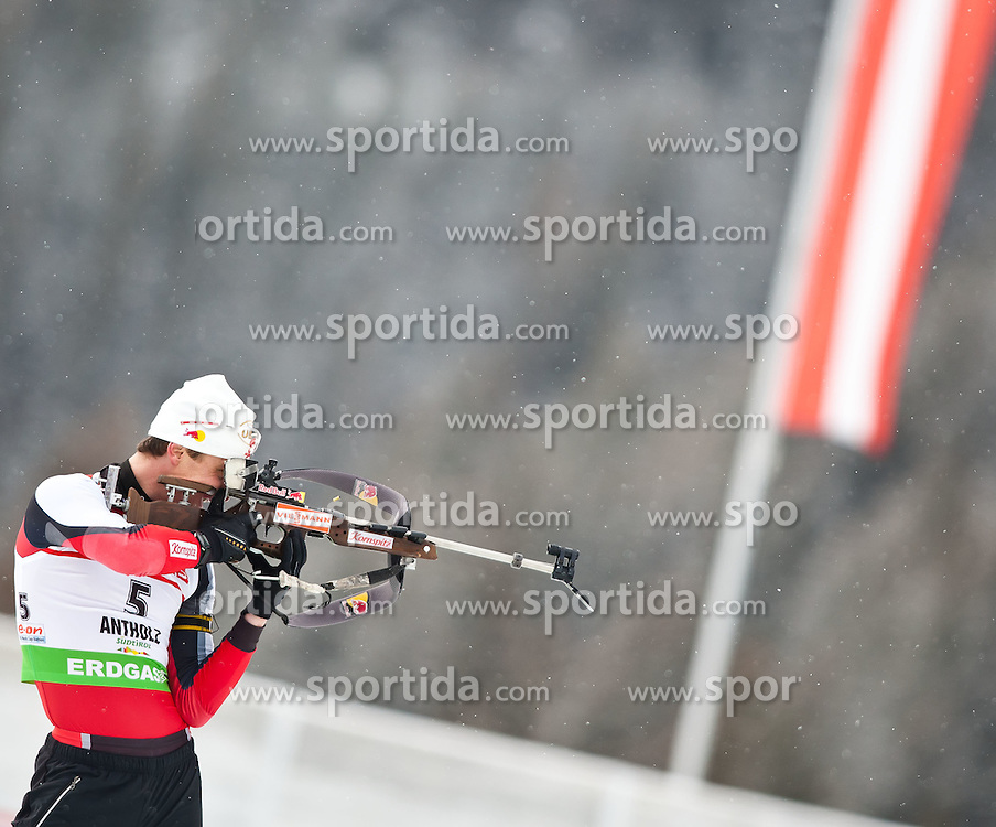 "20.01.2012, Südtirol Arena, Antholz, ITA, E.ON IBU Weltcup, 6. Biathlon, Antholz, Sprint Herren, im Bild Friedrich Pinter (AUT) // Friedrich Pinter (AUT) during Sprint Men E.ON IBU World Cup 6th, ""Southtyrol Arena"", Antholz-Anterselva, Italy on 2012/01/20, EXPA Pictures © 2012, PhotoCredit: EXPA/ Juergen Feichter"