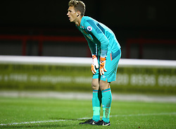 October 4, 2017 - Dagenham, England, United Kingdom - Rihards Matrevics of West Ham United Under 23s .during Premier League International Cup match between West Ham United Under 23s and Villarreal Under 23s at Dagenham and.Redbridge Football Club  Chigwell Construction Stadium, Dagenham,  England on 04 Oct 2017. (Credit Image: © Kieran Galvin/NurPhoto via ZUMA Press)