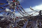 Prayer flags at Tong-la Pass (5120 meters)
