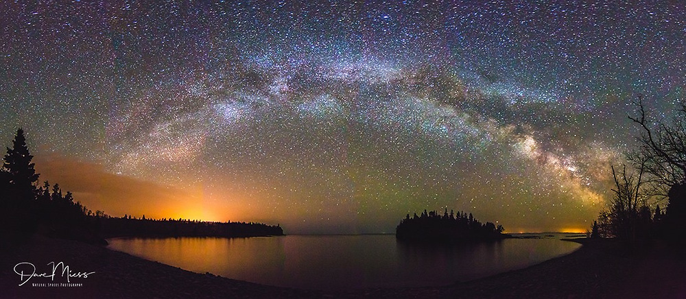 Milky Way over Ellington Island at Split Rock State Park, Minnesota