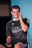 Gareth Bale during the presentation of the Real Madrid's new Champions League kit at the Santiago Bernabeu stadium in Madrid, Spain. May 26, 2013. (ALTERPHOTOS/Victor Blanco)