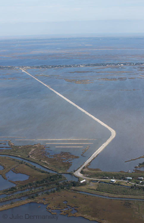 Island Road connecting Pointe-aux-Chenes with Isle de Jean Charles in Terrebonne Parish.<br />