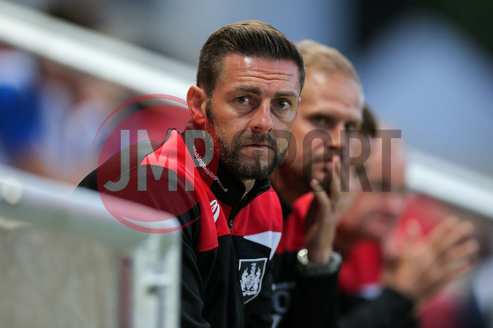 Bristol City U23 manager Jamie McAllister looks on - Rogan Thomson/JMP - 30/08/2016 - FOOTBALL - Ashton Gate Stadium - Bristol, England - Bristol City U23 v Crystal Palace U23 - U23 Professional Development League 2 (South Division).