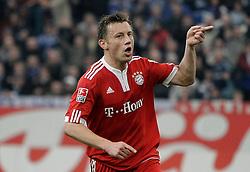03-04-2010 VOETBAL: SCHALKE 04 - BAYERN MUNCHEN: GELSENKIRCHEN<br /> Muenchen wint met 2-1 van Schalke / Ivica Olic juicht bij de 1-0 <br /> ©2010- FRH nph / Scholz