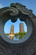 Sun and Moon pagodas, Guilin, China