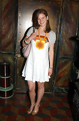 KATE SUMNER daughter of Sting at a launch preview sale of Nathalie Hambro's new line of fashion accessories 'Full of Chic' held at her home 63 Warwick Square, London SW1 on 5th May 2005.<br />