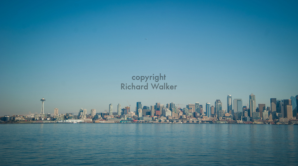 2017 NOVEMBER 06 -  Seattle skyline seen from Alki, Seattle, WA, USA. By Richard Walker