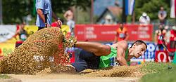 26.05.2012, Moeslestadion, Goetzis, AUT, 38. Hypo Meeting Goetzis 2012, Zehnkampf der Herren, Weitsprung, im Bild Eduard Mikhan (BEL) // Eduard Mikhan of Belgium during the 38. Hypo Meeting Goetzis 2012, Men's decathlon, Long jump at the Moeslestadion, Goetzis, Austria on 2012/26/05. EXPA Pictures © 2012, PhotoCredit: EXPA/ Peter Rinderer