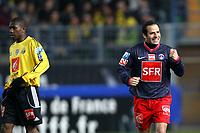 FOOTBALL - FRENCH CUP 2009/2010 - 1/2 FINAL - US QUEVILLY v PARIS SAINT GERMAIN - 14/04/2010 - PHOTO ERIC BRETAGNON / DPPI - JOY LUDOVIC GIULY (PSG)