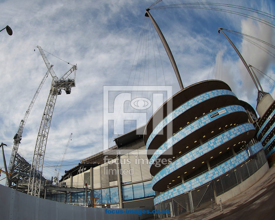 General view of the ground improvements at the Etihad Stadium, Manchester<br /> Picture by John Rainford/Focus Images Ltd +44 7506 538356<br /> 02/11/2014