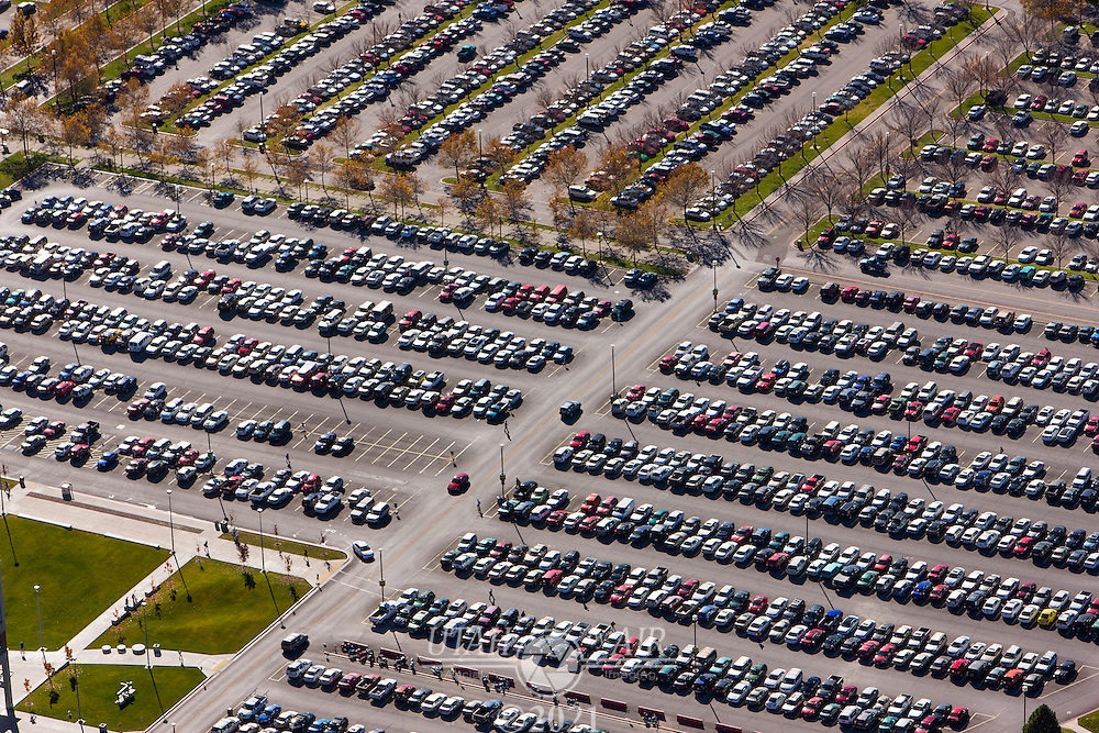 Parking lots at Utah Valley University