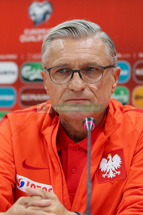 October 4, 2017 - Yerevan, Armenia - Polish national soccer team head coach Adam Nawalka attends a press conference in Yerevan, Armenia, 04 October 2017. Poland will face Armenia in the FIFA World Cup 2018 qualifying soccer match on 05 October 2017. (Credit Image: © Foto Olimpik/NurPhoto via ZUMA Press)