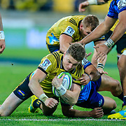 WELLINGTON, NEW ZEALAND - 7 JULY: During the Super Rugby union game played between Hurricanes v Blues , on 7 July 2018, at Westpac Stadium, Wellington, New Zealand.  Hurricanes won 42-24.
