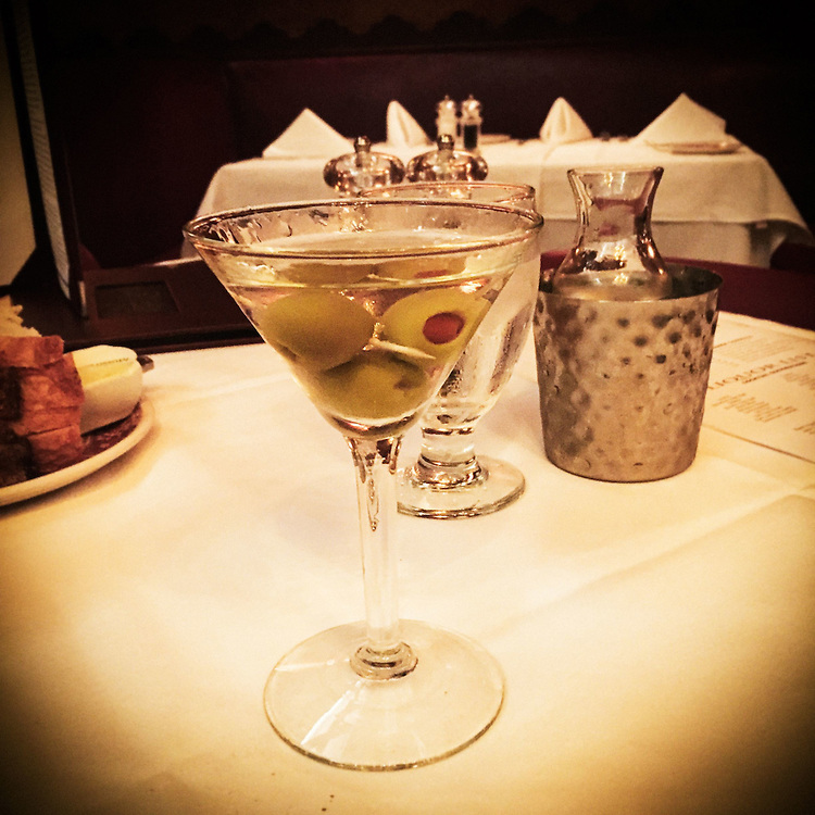 Musso & Frank's martini in Los Angles, CA.