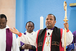 "11 March 2018, Arusha, Tanzania: In a spirit of vibrant hospitality, the Christ Church Cathedral of Mount Kilimanjaro Diocese, Arusha, Tanzania celebrated mass on 11 March, inviting fellow Christians from around the world currently participating in the WCC Conference on World Mission and Evangelism. <br /> <br /> The cathedral, whose location in central Arusha historically marked the mid-point between Cape Town (South Africa) and Cairo (Egypt), has a long history as a central worship point for a mixture of local and international congregants. <br /> <br /> Reflecting the call to mission, the church is active in the areas of Education and Health, and sponsors schools, hospitals, as well as charity work. With a particular focus on children, the church organizes a weekly ""Compassion Saturday"", where children are welcomed to the church for Christian teachings, food and other support. <br /> <br /> Welcoming the international visitors to an African worship experience, the service combined traditional aspects of the Anglican liturgy with contemporary African charisma, through choirs and dance. Bishop Stanley Hotay from the Diocese of Mount Kilimanjaro led the service."