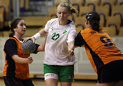 Nusa Skutnik of Olimpija at  handball game between women team RK Olimpija vs ZRK Brezice at 1st round of National Championship, on September 13, 2008, in Arena Tivoli, Ljubljana, Slovenija. Olimpija won 41:17. (Photo by Vid Ponikvar / Sportal Images)