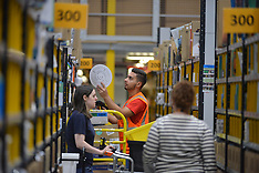 Amazon prepares for Black Friday, Dunfermline, 15 November 2018