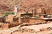 Berber Village, Ounila Valley (connecting Ait BenHaddou to Telouet Kasbah) Ouarzazate Province, Morocco Morocco, 2016-04-23. <br />