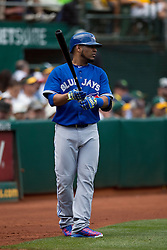 OAKLAND, CA - JULY 23:  Edwin Encarnacion #10 of the Toronto Blue Jays stands on deck before an at bat against the Oakland Athletics during the third inning at O.co Coliseum on July 23, 2015 in Oakland, California. The Toronto Blue Jays defeated the Oakland Athletics 5-2. (Photo by Jason O. Watson/Getty Images) *** Local Caption *** Edwin Encarnacion