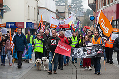 2019-02-23 Protest against cuts in Royal Borough of Windsor and Maidenhead