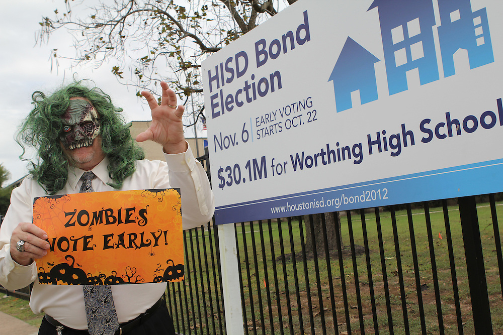 Vote Early Zombie at Worthing High School