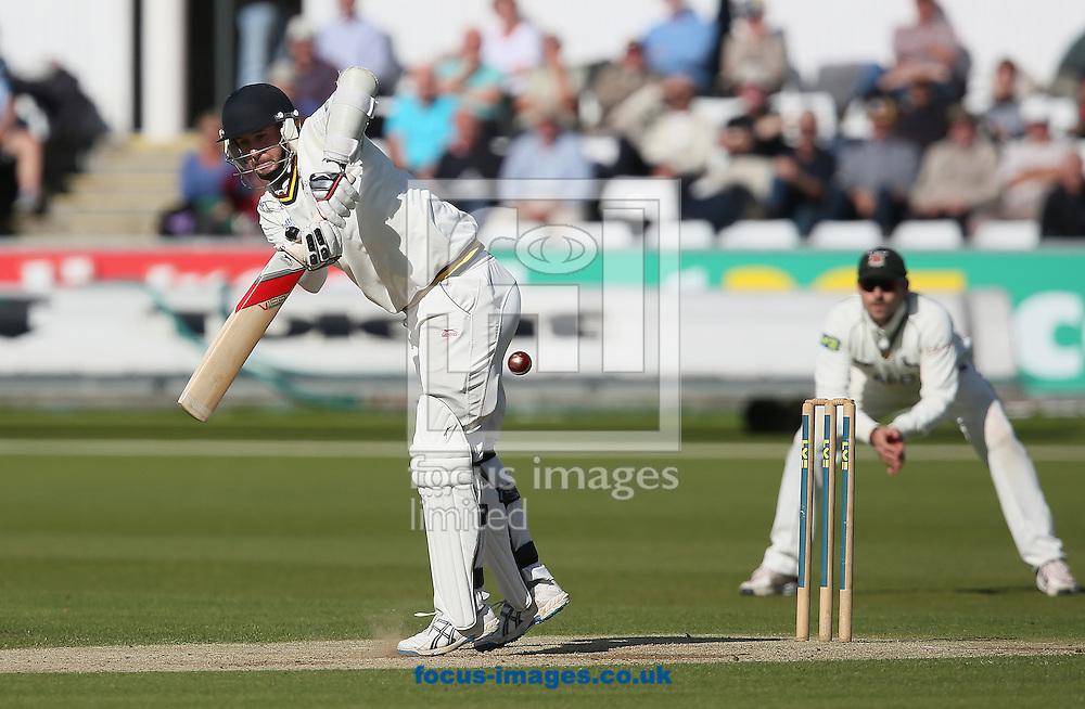 Picture by Paul Gaythorpe/Focus Images Ltd +447771 871632<br /> 18/09/2013<br /> Chris Rushworth of Durham County Cricket Club batting against Nottinghamshire County Cricket Club during the LV County Championship Div One match at Emirates Durham ICG, Chester-le-Street.