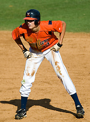 Virginia Cavaliers OF Jarrett Parker (13)..The Virginia Cavaliers baseball team held a seven game Orange and Blue World Series at Davenport Field in Charlottesville, VA.  Images are from Game 6 held on October 22, 2007.