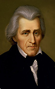 Andrew Jackson (1767-1845) American soldier and Seventh  President of the United States 1829-1837. Head-and-shoulders portrait.