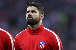 May 3, 2018 - Madrid, Spain - DIEGO COSTA of Atletico de Madrid looks on during the team line up ahead of the UEFA Europa League, semi final, 2nd leg football match between Atletico de Madrid and Arsenal FC on May 3, 2018 at Metropolitano stadium in Madrid, Spain (Credit Image: © Manuel Blondeau via ZUMA Wire)