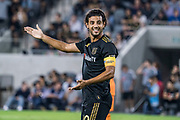 LAFC forward Carlos Vela (10) against Houston Dynamo during a MLS soccer game, Saturday, Sept 25, 2019, in Los Angeles. LAFC wins 3-1. (Jon Endow/Image of Sport)