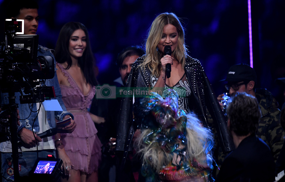 Laura Whitmore in the crowd during the MTV Europe Music Awards 2017 held at The SSE Arena, London. Photo credit should read: Doug Peters/EMPICS Entertainment