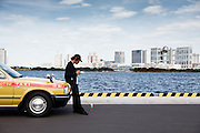 Tokyo, July 2012 - Lunch of a taxi driver by the bay.