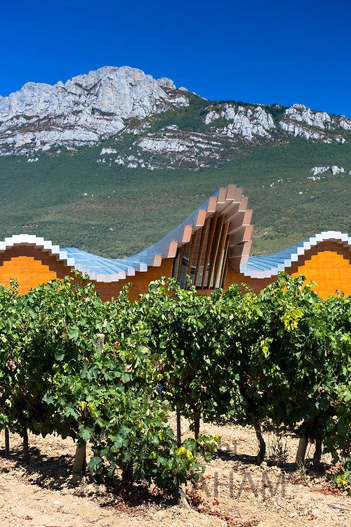 Ysios Bodega winery futuristic architecture at Laguardia in Rioja-Alavesa wine-producing area of Basque country, Spain
