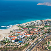 Aerial view of Cabo Real. Los Cabos, BCS. Mexico.