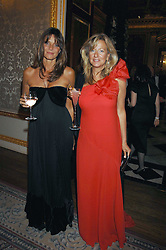 Left to right, COUNTESS DEBONAIRE VON BISMARCK and PRINCESS CHANTAL OF HANOVER at the Ark 2007 charity gala at Marlborough House, Pall Mall, London SW1 on 11th May 2007.<br />