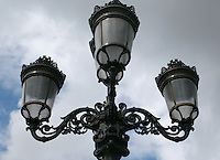 Lampstand on O'Connell bridge Dublin Ireland