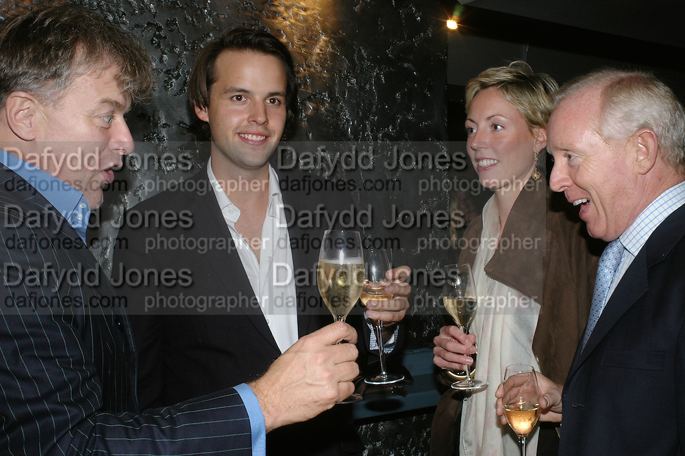 MARK HOLMES, CHARLIE GILKES, REBECCA AND SIMON BREWER, The launch of ' Cooler, Faster, More Expensive, - the Return of the Sloane Ranger. By Peter York and Olivia Stewart-Liberty. Kitts. 7-12 Sloane sq. London. 15 October 2007. -DO NOT ARCHIVE-© Copyright Photograph by Dafydd Jones. 248 Clapham Rd. London SW9 0PZ. Tel 0207 820 0771. www.dafjones.com.